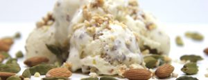 Arab Ice Cream Crunch with almonds and cardamom